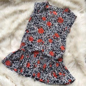 Joie rose pleated mini dress